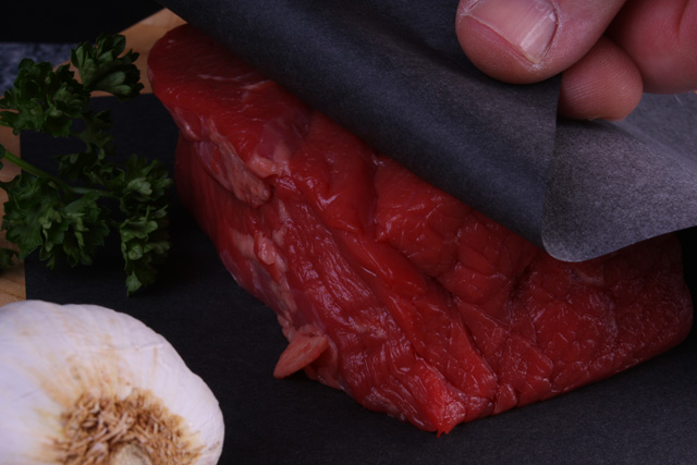 Meat Saver Paper with steak in black